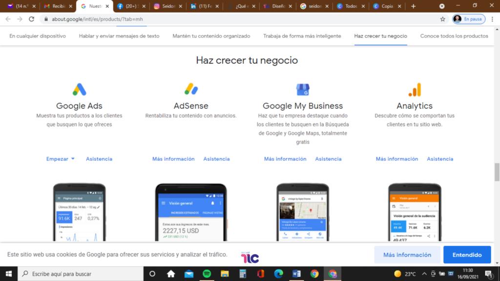 Busca la aplicación de Google My Business