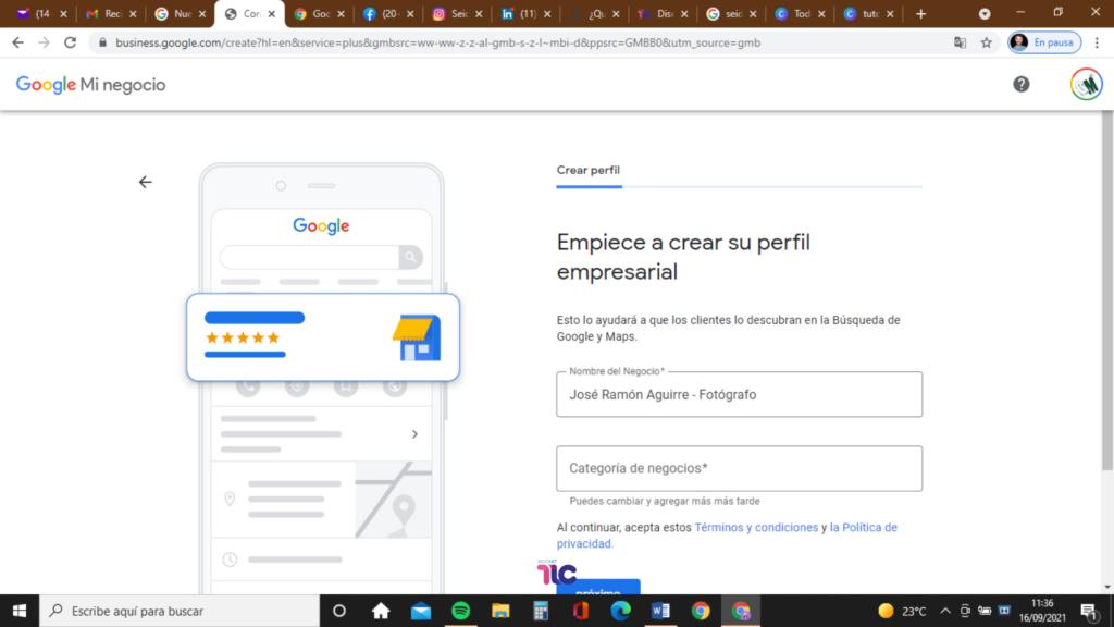 Crea el perfil de tu empresa en Google My Business